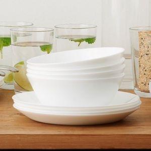 New White tempered glass bowls.